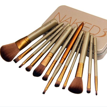12Pcs Makeup Brush Set, Kapmore Professional Cosmetic Foundation Brushes Makeup Brushes Kit Makeup Tools with Box for Women Girls Ladies