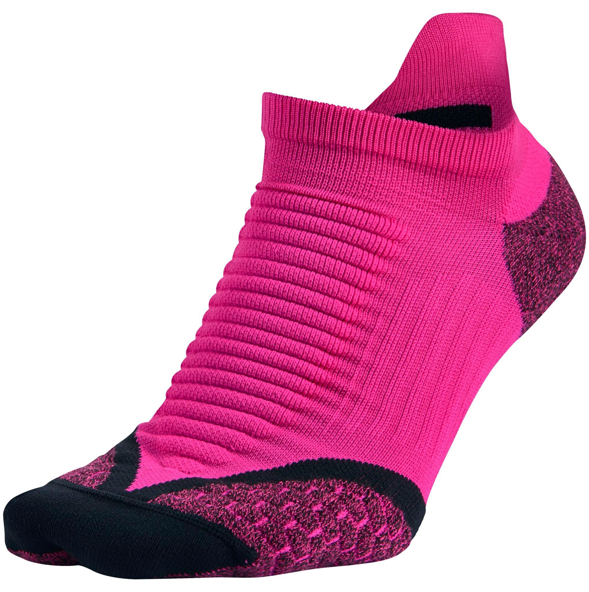 Nike Elite Running Cushion No-Show Tab Socks - Pink Foil/...