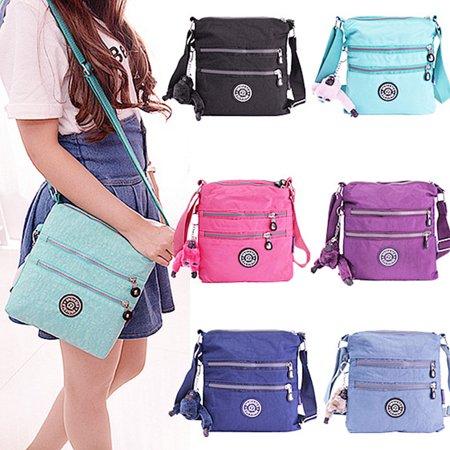 Women Fashion Nylon Waterproof Hobo Handbags Tote Messenger Crossbody Bag