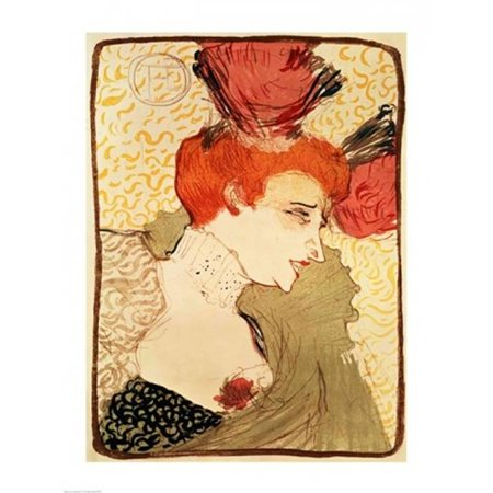 Posterazzi BALBAL7012LARGE Mlle. Marcelle Lender 1895 Poster Print by Henri De Toulouse-Lautrec - 24 x 36 in. - Large - image 1 of 1