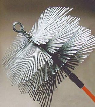 12'' x 12'' Square Flat Wire Brush - 3/8'' thread