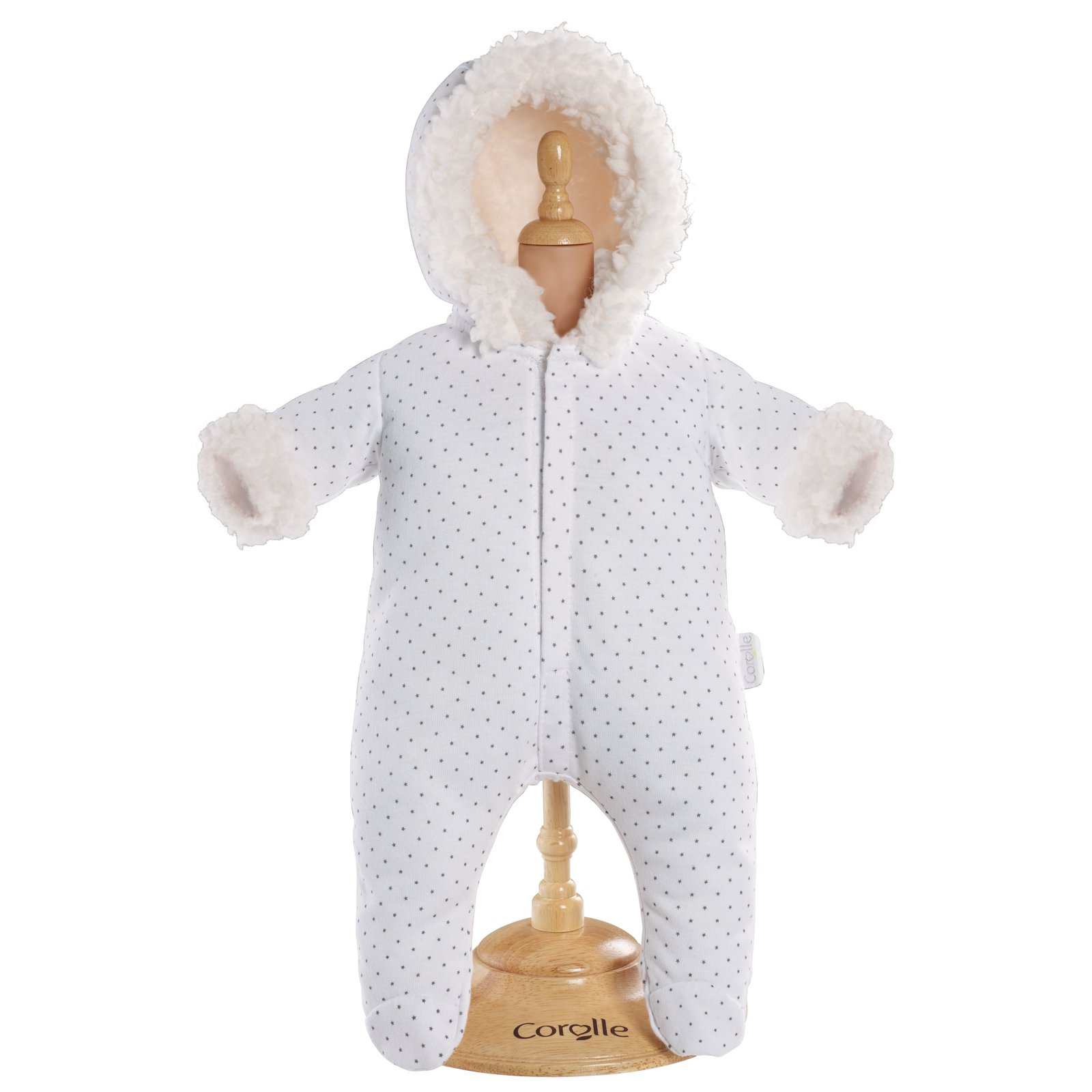 Corolle Mon Classiques Bebe 17 in. White Snowsuit Doll Ensemble by Corolle