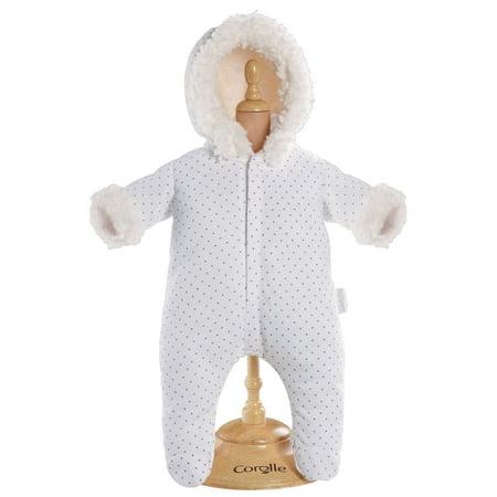 704315bee596 Corolle Mon Classiques Bebe 17 in. White Snowsuit Doll Ensemble ...
