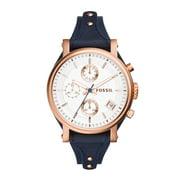 Fossil Women's ES3838 Blue Leather Quartz Fashion Watch