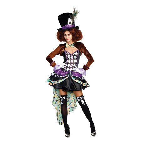 Dreamgirl Women's Whimsical Hatter Madness Storybook Costume - Homemade Storybook Costumes