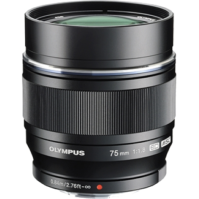 Olympus V311040BU000 Olympus M.ZUIKO DIGITAL 75 mm f/1.8 Telephoto Lens for Micro Four Thirds - 58 mm Attachment - 0.10x Magnification