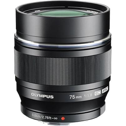 Olympus V311040BU000 Olympus M.ZUIKO DIGITAL 75 mm f/1.8 Telephoto Lens for Micro Four Thirds - 58 mm Attachment - 0.10x Magnification