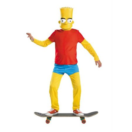 Costumes For All Occasions DG34548G Bart Simpson Deluxe 10-12 - Kids Bart Simpson Costume
