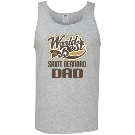 Saint Bernard Dad (Worlds Best) Dog Breed Men's Tank