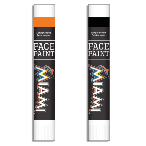 Miami Marlins Face Paint Two-Pack - No Size