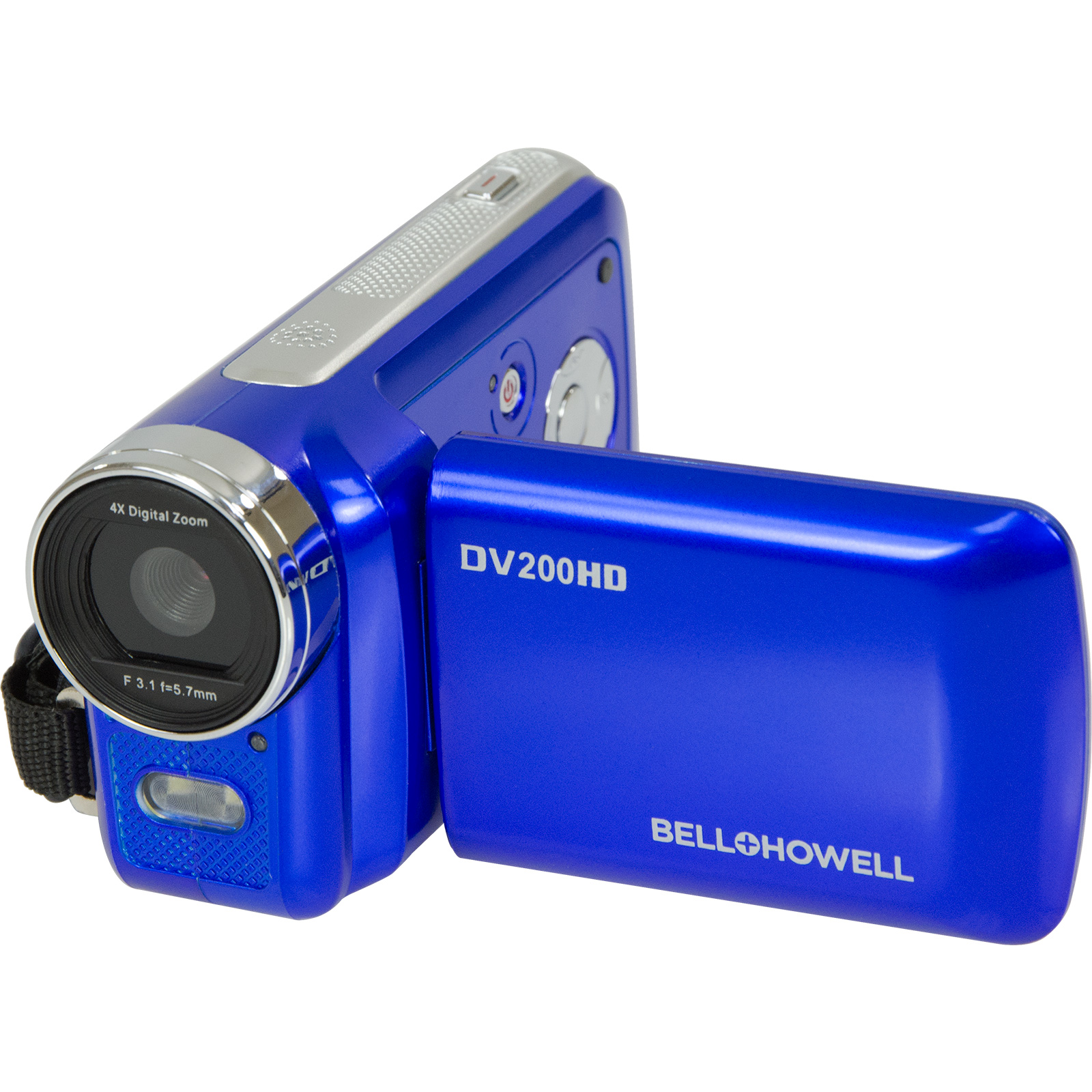 Bell & Howell DV200HD HD Video Camera Camcorder with Built-in Video Light (Blue)