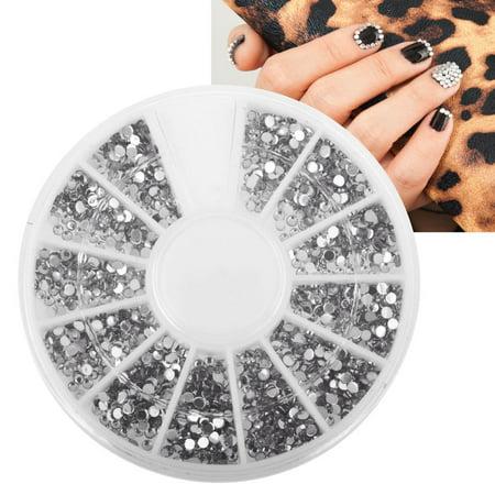 Zodaca Nail Art Tips 15mm 3d Crystal Giltter Bling Rhinestones Decoration Manicure Beauty 1200pcs Walmart Canada