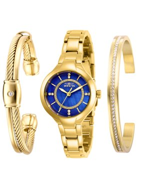 Invicta Angel Crystal Blue Dial Women's Watch and Bracelet Gift Set - 29323