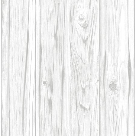 InHome White Barnboard Peel & Stick Wallpaper - Suicide Wallpaper