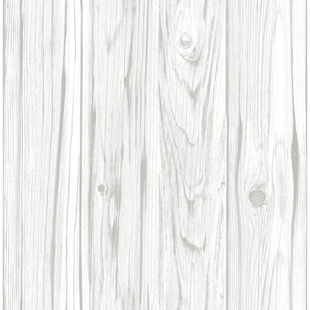 InHome White Barnboard Peel & Stick Wallpaper