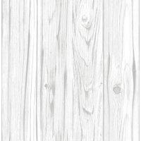 InHome White Barnboard Peel & Stick Wallpaper