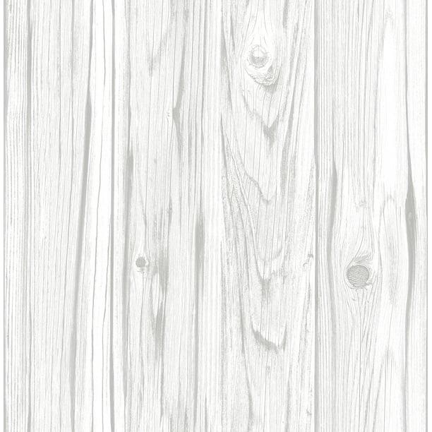 Inhome White Barnboard Peel Stick Wallpaper Walmart Com Walmart Com