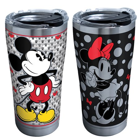 (Set) Disney Mickey & Minnie Mouse 20 Ounce Stainless Steel Tervis Tumblers (Tervis Tumblers Minnie Mouse)
