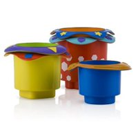 Nuby Splish Splash Stacking Bath Cups, 5 Count