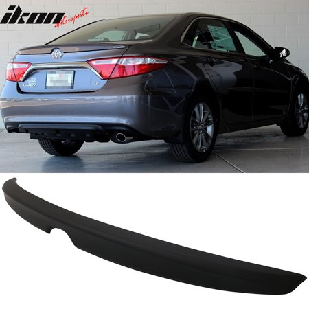 Lip Mount Spoiler - Fits 15-17 Camry Sedan Flush Mount OE Factory Style Trunk Spoiler-Matte Black