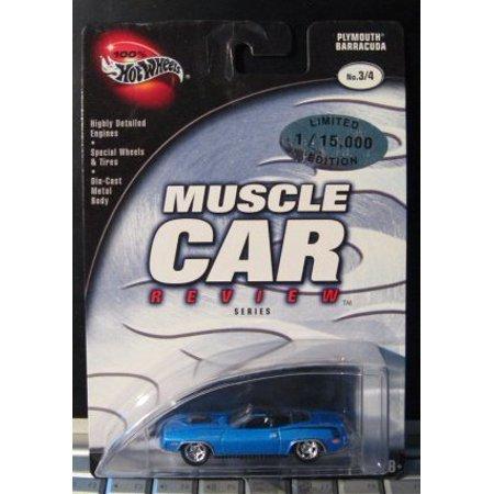 Plymouth Barracuda Car (Hot Wheels 100% Muscle Car Review 3/4 Plymouth Barracuda BLUE )