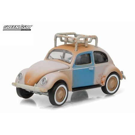 Greenlight 1:64 Club V-Dub 3 1948 VW Type 1 Split Beetle Prier Gray Rook Rack