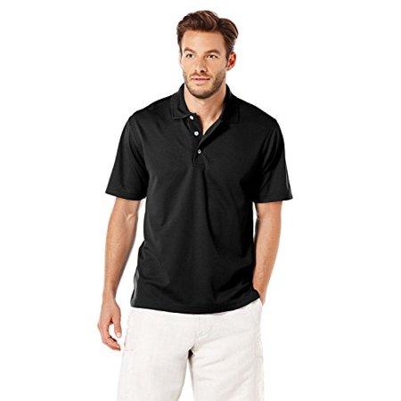e9f231c1d Cubavera - Cubavera Men's Traditional Textured Performance Polo Shirt, Jet  Black, X-Large - Walmart.com