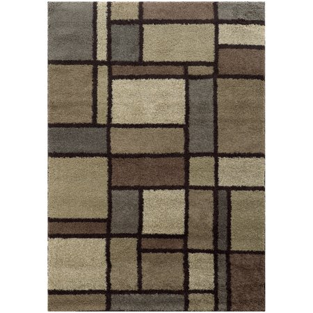 Style Haven Cecilia Geometric Block Shag Area Rug - 3'3  x 5'5  This gorgeous patterned shag rug offers modern transitional styling in cool neutral beige and ivory. Featuring an ultra-soft and worry-free polypropylene pile this updated shag will be a beautiful addition to your home's decor.Machine-wovenDurable with easy care and cleaningPrimary materials: PolypropyleneLatex: NoPile height: 1-inchStyle: TransitionalPrimary color: BeigeSecondary colors: Blue, greyPattern: ShagTip: We recommend the use of a  non-skid pad to keep the rug in place on smooth surfaces.All rug sizes are approximate. Due to the difference of monitor colors, some rug colors may vary slightly. Overstock.com tries to represent all rug colors accurately. Please refer to the text above for a description of the colors shown in the photo.Tip: We recommend the use of a  non-skid pad to keep the rug in place on smooth surfaces.All rug sizes are approximate. Due to the difference of monitor colors, some rug colors may vary slightly. Overstock.com tries to represent all rug colors accurately. Please refer to the text above for a description of the colors shown in the photo.Tip: We recommend the use of a  non-skid pad to keep the rug in place on smooth surfaces.All rug sizes are approximate. Due to the difference of monitor colors, some rug colors may vary slightly. Overstock.com tries to represent all rug colors accurately. Please refer to the text above for a description of the colors shown in the photo.