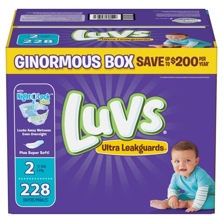 Luvs Ultra Leakguards Diapers Size 2 -228 ct. (12-18 lb.)