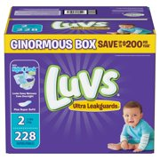 Luvs Ultra Leakguards Diapers Size 2 -228 ct. 12-18 Lbs