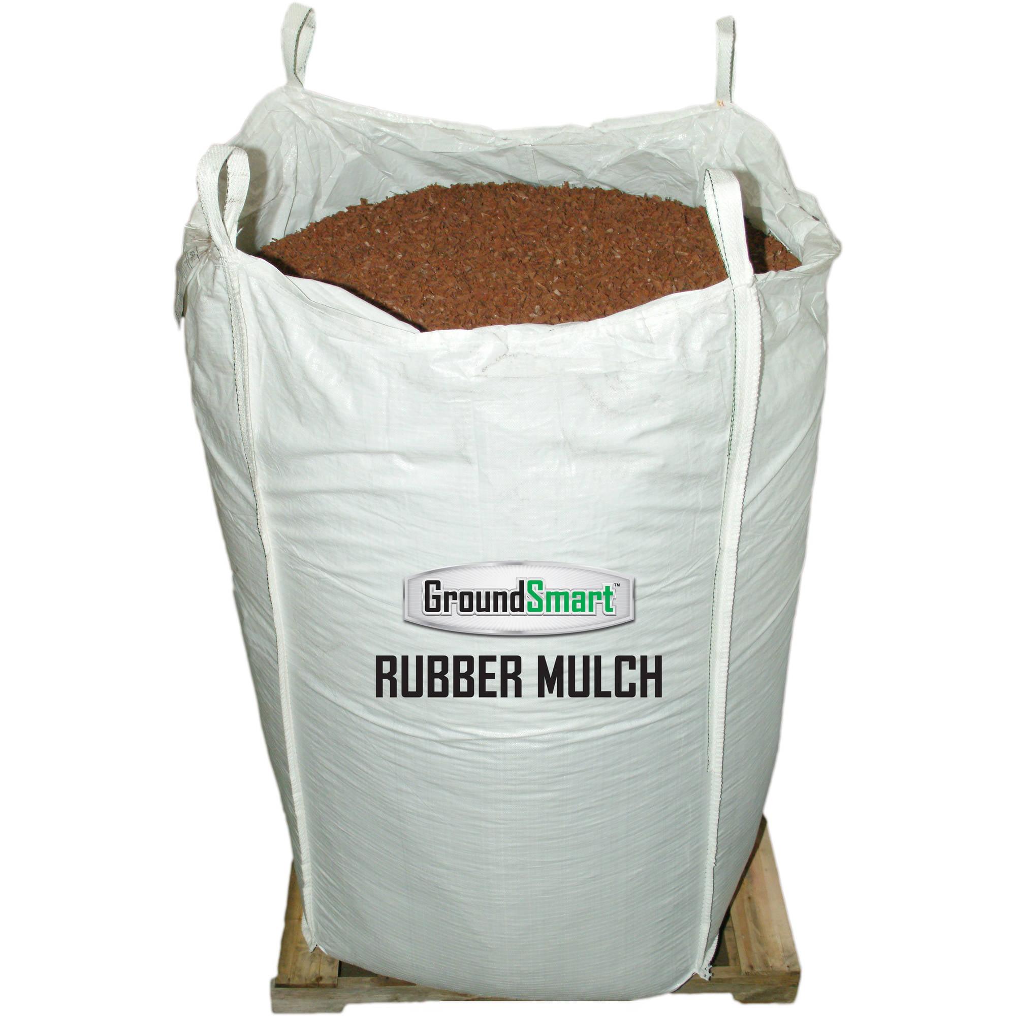 Groundsmart Mocha Brown Rubber Mulch 76 9 Cu Ft Super Sack Walmart Com Walmart Com