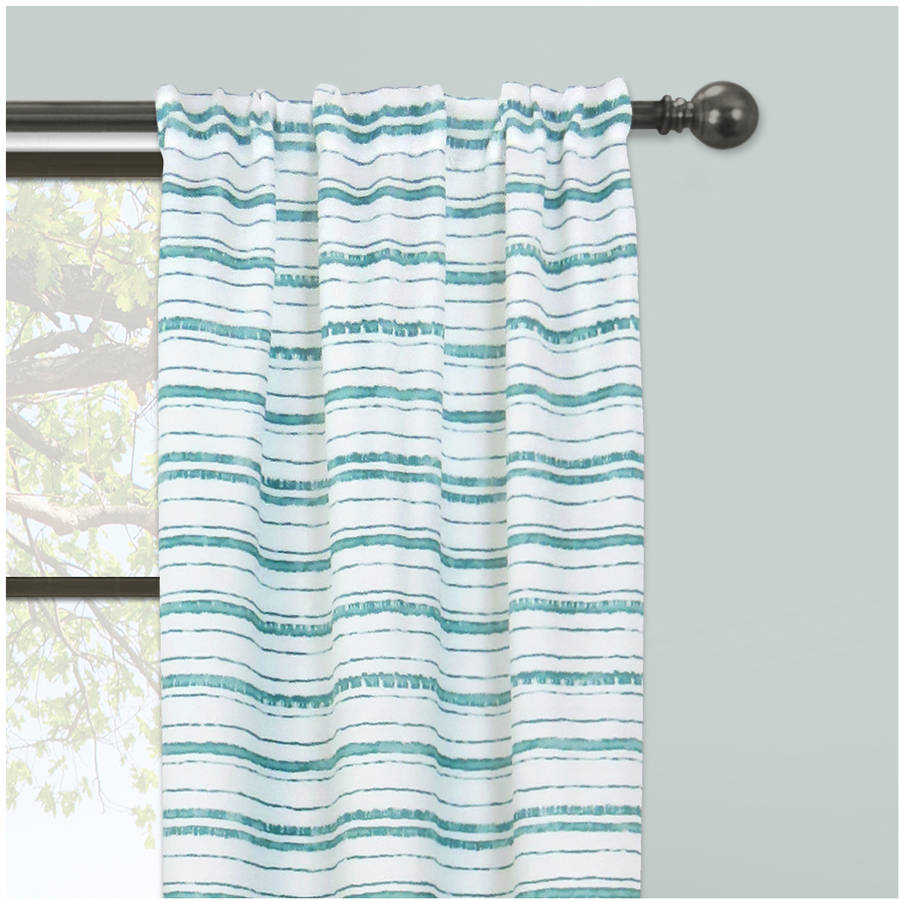 "set of 2 mainstays stripe impression Curtain panel 56/""×84"