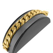 Miami Cuban Bracelet 14k Solid Gold Finish Stainless Steel Lab Created Cubic Zirconia 100+ Gram