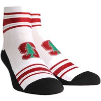 Stanford Cardinal Rock Em Socks Women's Classic Stripes Quarter-Length Socks - S/M