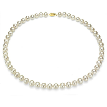 ADDURN Ultra-Luster 5-6mm White Genuine Cultured Freshwater Pearl 18