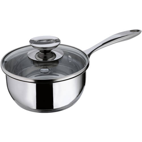 "Berndes Cucinare Induction Stainless Steel Sauce Pan, 6.75""/1.4 qt with Lid"