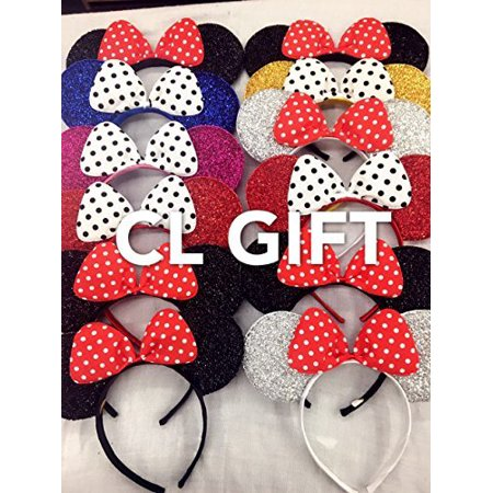 Set of 12 -Mix Color Minnie Headbans, Minnie Ears, Minnie Mouse Ears, Mickey Headband, Minnie - Ears Headband
