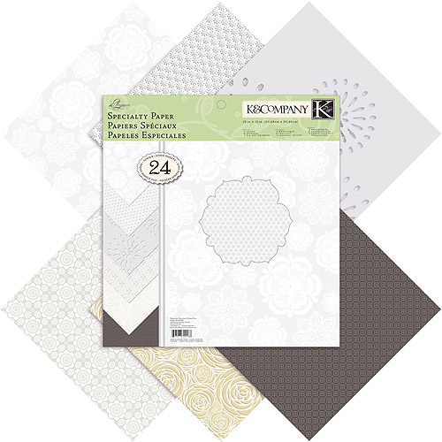 """K&Company Elegance Specialty Paper Pad ,12"""" x 12"""", 24 Sheets"""