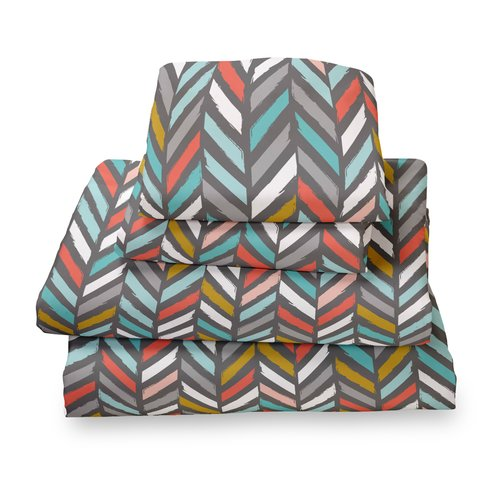 Where the Polka Dots Roam Herringbone Extra Deep Pocket Sheet Set