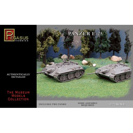 25 Scale Plastic Model Car (Pegasus 7602 WWII German Army E-25 Tank 1/72 Scale Plastic Model Kits )