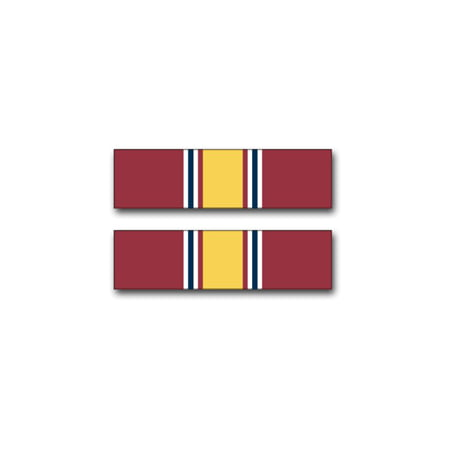 3.8 Inch Army National Defense Service Medal Ribbon Vinyl Transfer Decal