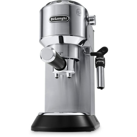 DeLonghi Dedica Deluxe 15-Bar Pump Espresso Machine with Rapid Cappuccino System in Stainless Steel