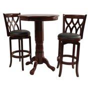 Boraam Cathedral 3 Piece Pub Table Set Dark Cherry by Boraam Industries LLC