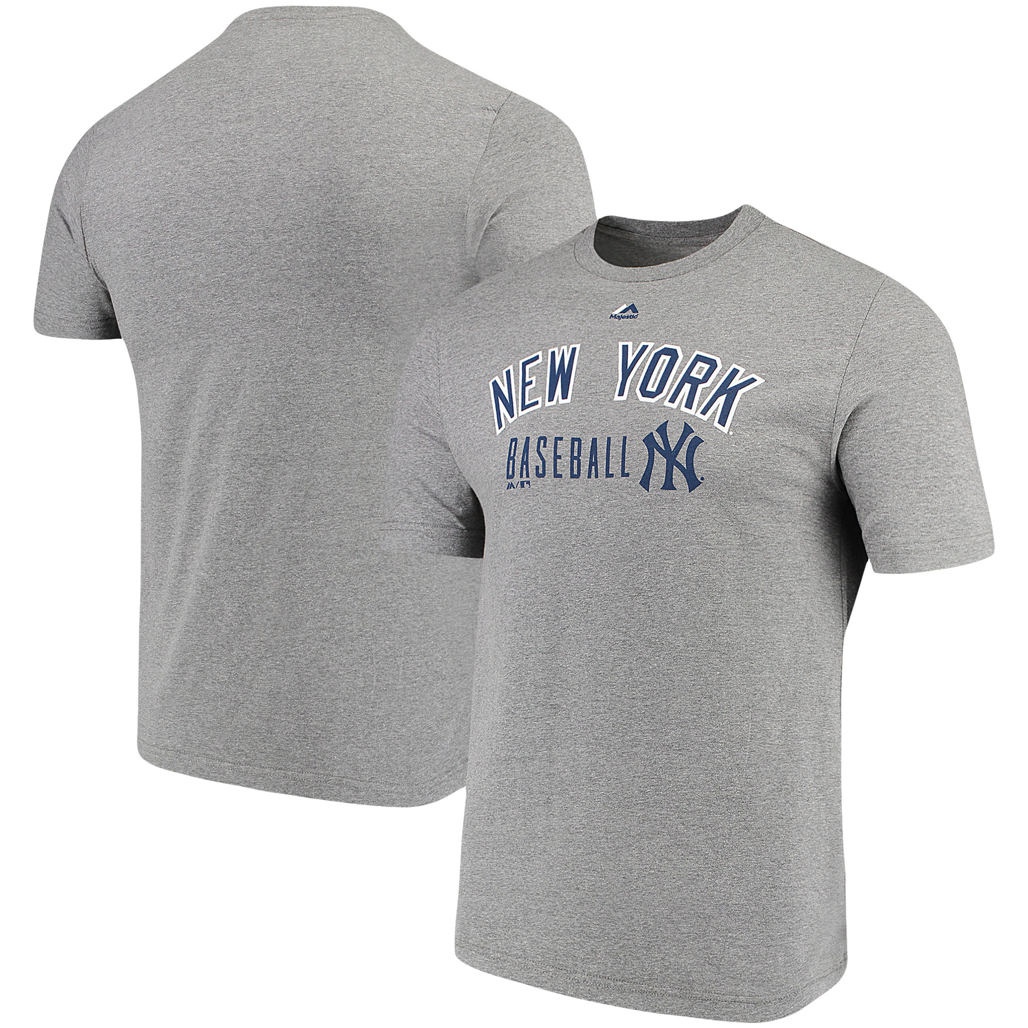 New York Yankees Majestic Open Opportunity Domestic T-Shirt - Heathered Gray