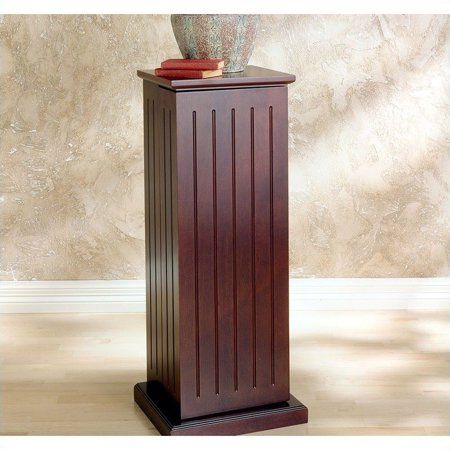"Southern Enterprises Hewitt 39"" Media Storage Pedestal in Cherry"