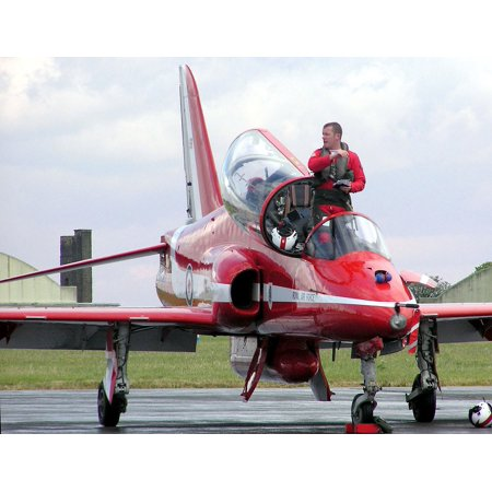 Canvas Print England Britain Fighter Jet Great Britain Pilot Stretched Canvas 10 x