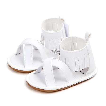 Funcee Soft Rubber Tassel Bow Baby Girl Paste Sandals Summer (Rubber Girls Sandals)