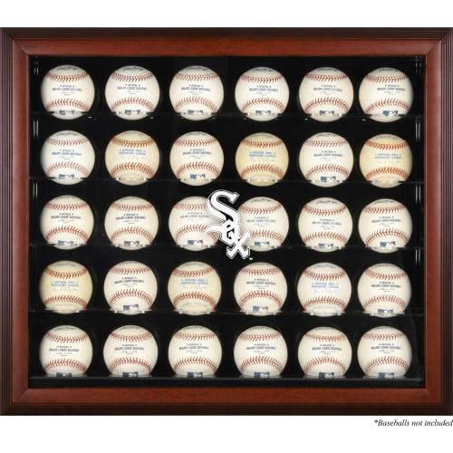 Chicago White Sox Fanatics Authentic Logo Mahogany Framed 30-Ball Display Case - No Size