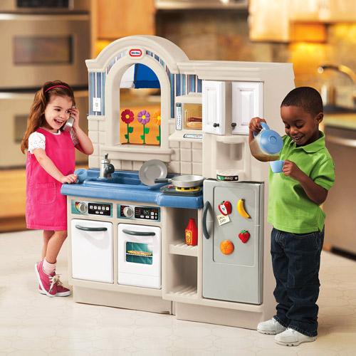 Little Tikes Play Kitchen little tikes inside/outside cook 'n grill kitchen - walmart