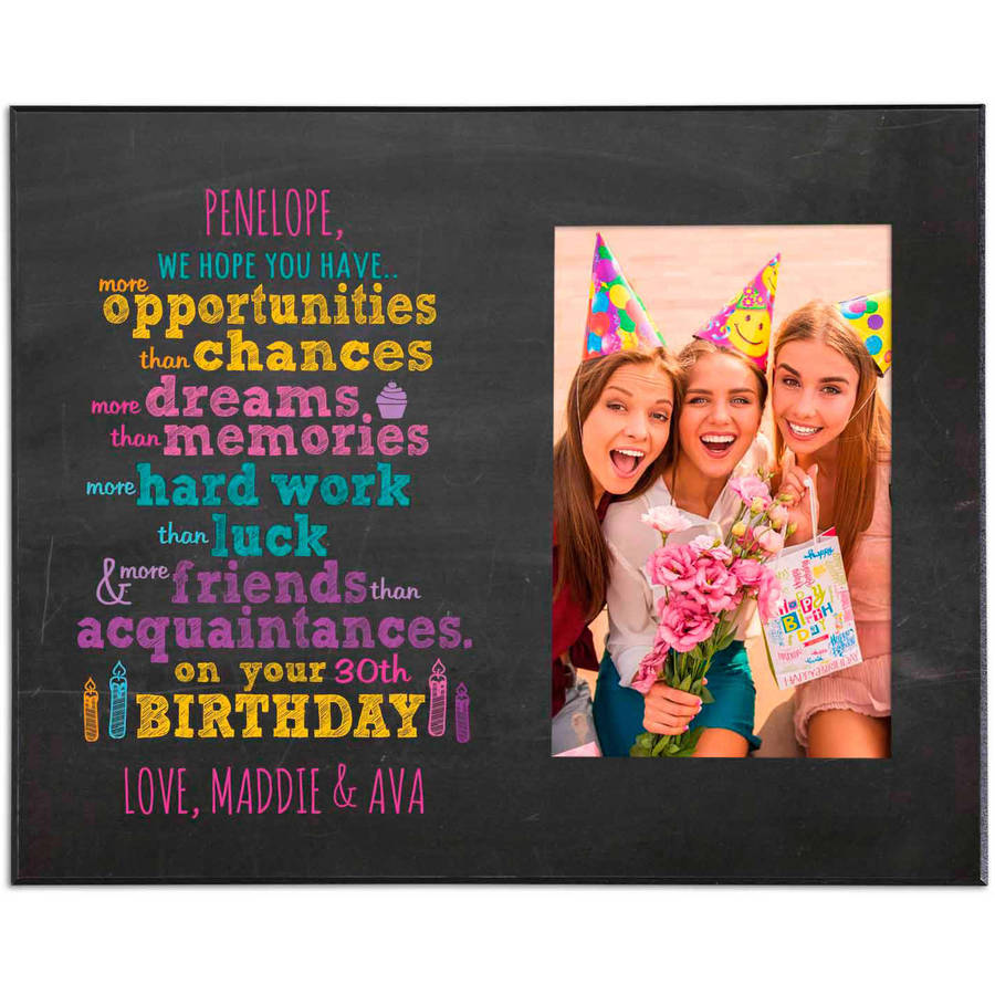 Personalized We Hope for You Birthday Frame, Available in 2 Colors